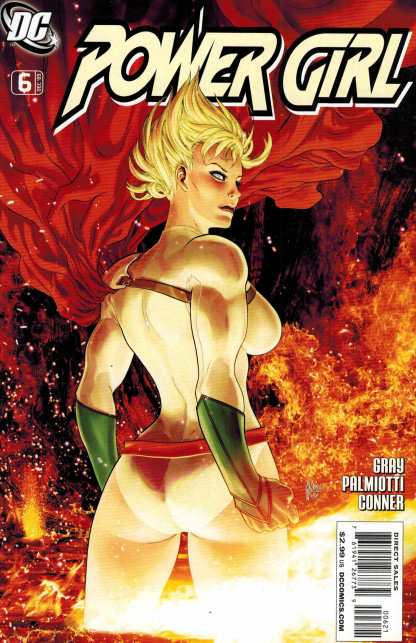 Power Girl #6 Guillem March Variant Rare HTF DC 2009