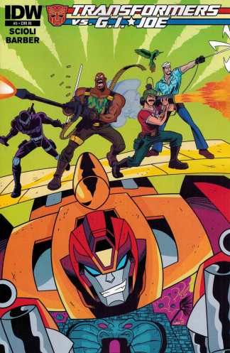 Transformers vs GI Joe #5 1:10 Derek Charm Variant RI IDW G.I.