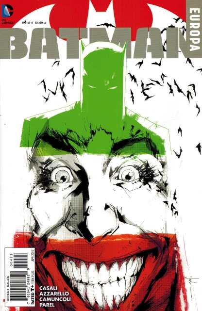 Batman Europa #4 1:25 Jock Joker Variant DC 2015