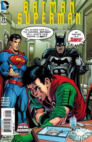 Batman Superman #29 Neal Adams My Ward's a Junkie Homage Variant DC 2013