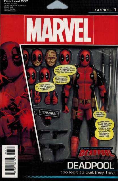 Deadpool #7 John Tyler Christopher Action Figure Variant Marvel ANAD 2015