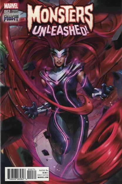 Monsters Unleashed #2 1:25 Future Fight Game Lee Variant Marvel 2017 Medusa