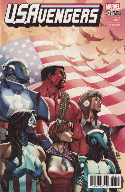 US Avengers #3 1:25 Paulo Siqueira Variant NOW Marvel 2017