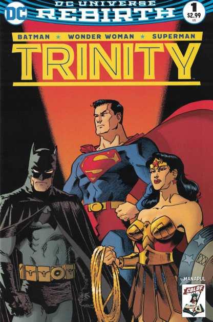Trinity #1 CBLDF Exclusive Matt Wagner Variant DC Rebirth 2016