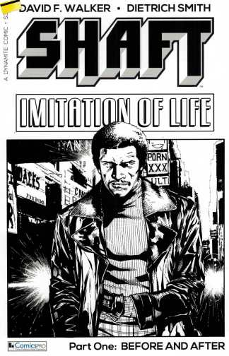 Shaft Imitation of Life #1 ComicsPro Exclusive B&W Sketch Variant Dynamite