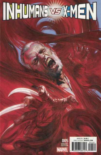 Inhumans Vs X-Men #5 1:50 Gabrielle Dell'otto Variant Marvel 2016 IVX
