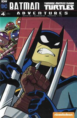 Batman TMNT Adventures #4 1:10 Fleecs RI Variant DC IDW 2016 Turtles
