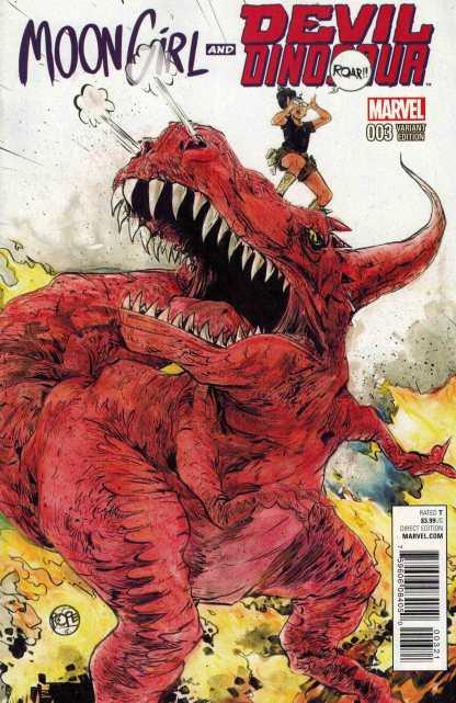 Moon Girl and Devil Dinosaur #3 1:25 Paul Pope Variant Marvel ANAD 2016