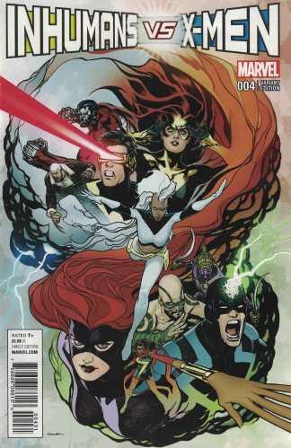 IvX #4 1:50 Ryan Sook Variant Inhmans Vs X-Men Marvel 2016