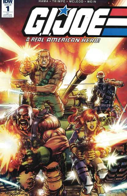 GI Joe Real American Hero #1 NCComicon Exclusive Neal Adams Variant Marvel 1982