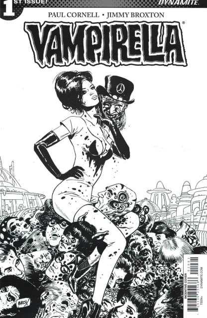 Vampirella #1 1:10 Broxton Variant Cover F B&W Dynamite 2016
