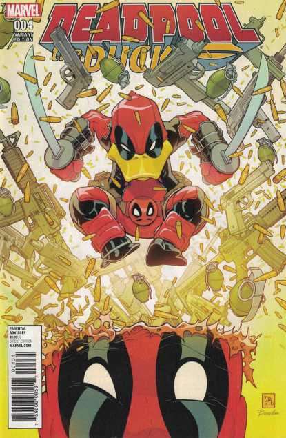Deadpool the Duck #4 1:25 Will Robson Variant Marvel Now 2016