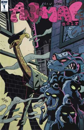 Animal Noir #1 1:4 Troy Little Variant RI IDW 2017