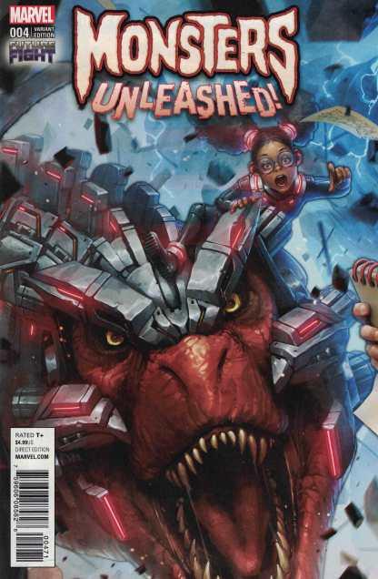 Monsters Unleashed #4 1:25 Future Fight Variant Marvel 2017 Devil Dinosaur