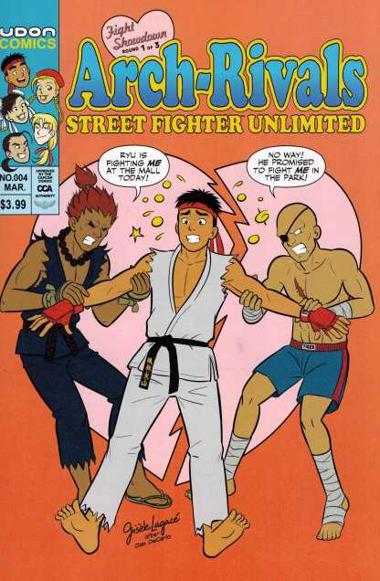 Street Fighter Unlimited #4 1:10 Lagace Archie Homage Variant Udon 2015