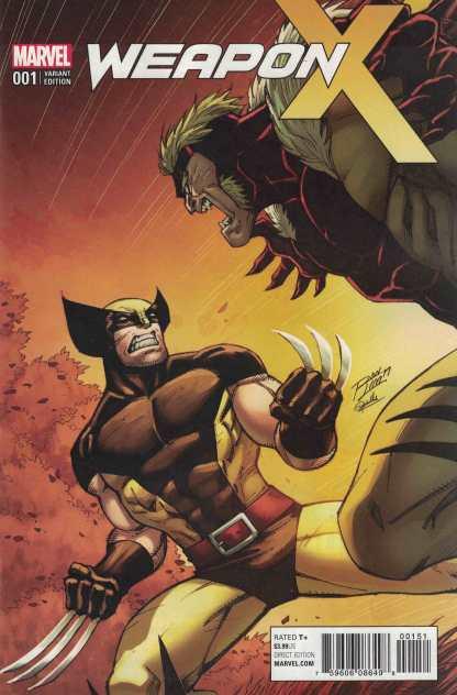 Weapon X #1 1:15 Ron Lim Variant Marvel Wolverine Sabretooth 2017