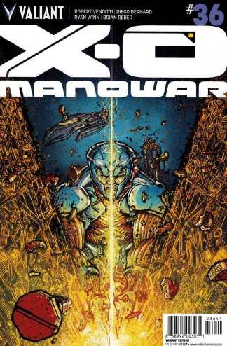 X-O Manowar #36 1:20 Ryan Lee Variant Valiant