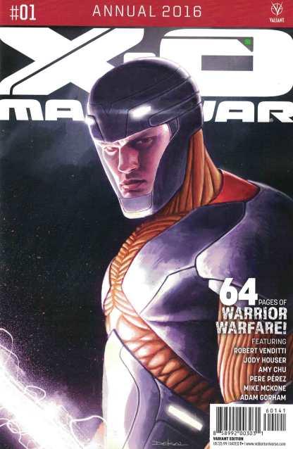 X-O Manowar Annual 2016 1:20 Dekal Variant Cover D Valiant