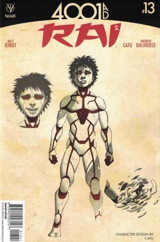 Rai #13 1:10 CAFU Character Design Variant Cover C Valiant 4001 AD