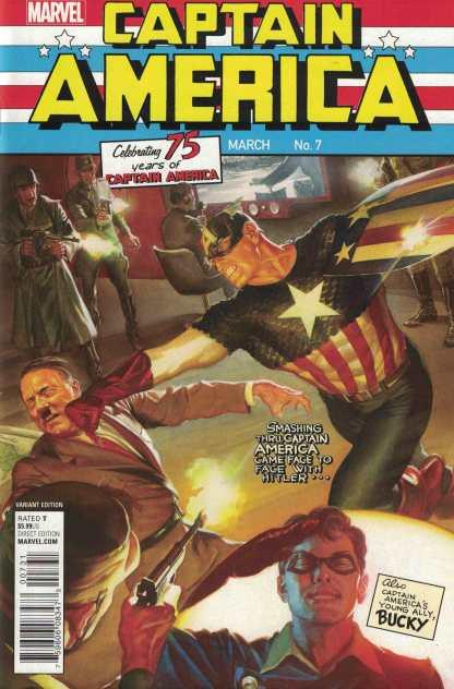Captain America Sam Wilson #7 1:100 Ross Variant Marvel 2015 75th Anniversary