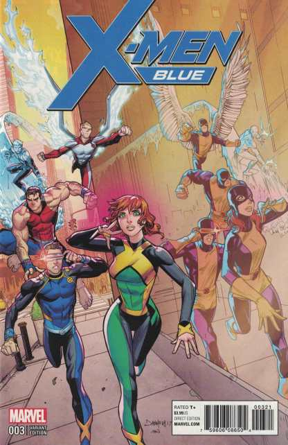 X-Men Blue #3 1:25 Dan Mora Variant Marvel 2017