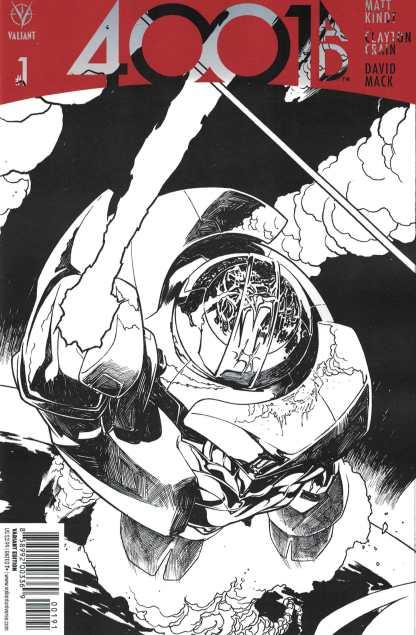 4001 AD #1 1:100 Ryan Sook Interlocking Sketch Variant Cover I Valiant 2016 Rai