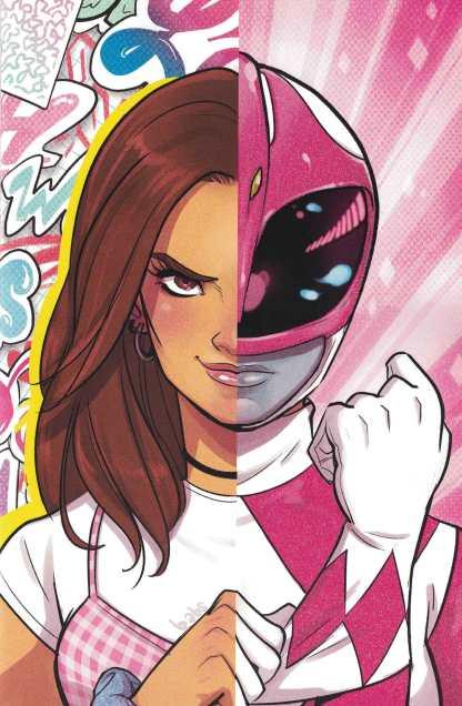 Power Rangers Pink #1 1:100 Babs Tarr Glitter FOC Variant Boom Studios 2016 RARE