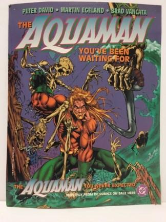 Aquaman #1 Martin Egeland Promo Art Print Poster Cardstock DC 1994 Peter David