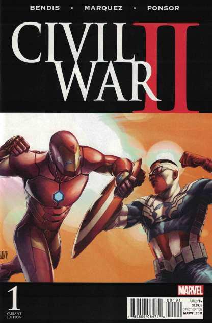 Civil War II #1 1:100 Steve McNivel Color Variant Marvel 2016 ANAD
