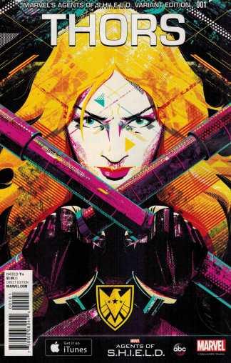 Thors #1 1:15 MAOS Shield Variant Marvel Secret Wars 2015