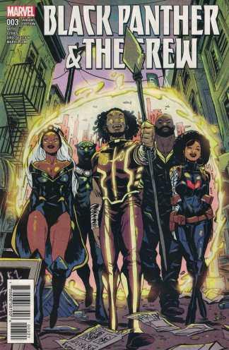 Black Panther & The Crew #3 1:25 Sanford Greene Variant Marvel 2017