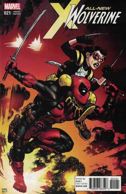 All New Wolverine #21 1:10 Leonard Kirk Marvel 2015 Deadpool