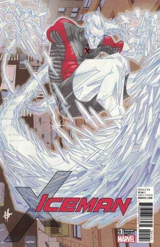 Iceman #1 1:25 Damion Scott Variant Marvel 2017