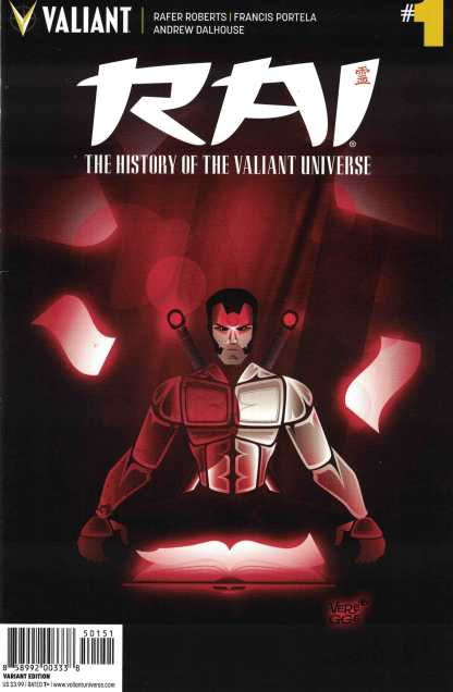 Rai History of Valiant Universe #1 1:20 Veregge Variant Cover E Valiant 2017