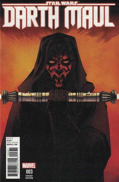 Star Wars Darth Maul #3 1:25 Declan Shalvey Variant Marvel 2017