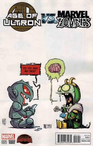 Age of Ultron vs Marvel Zombies #1 Skottie Young Baby Variant 2015 SWA
