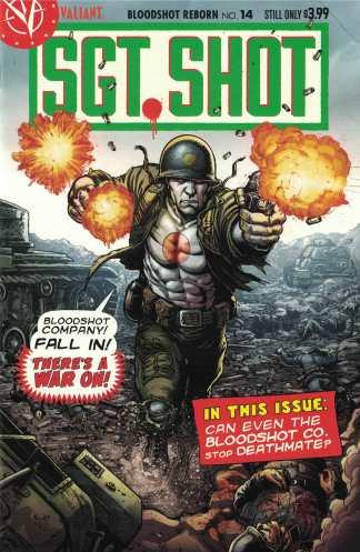 Bloodshot Reborn #14 1:20 Robertson Variant CVR G Valiant Sgt Rock Homage