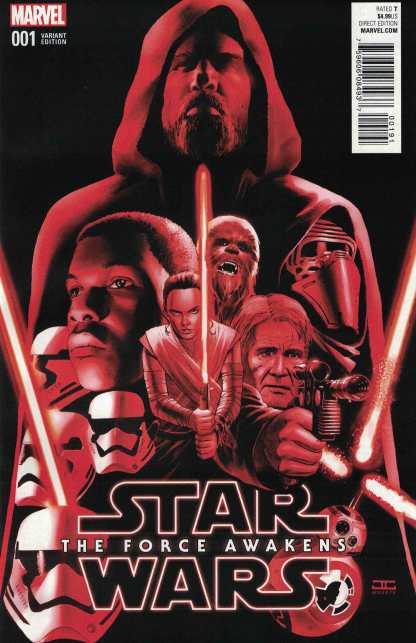 Star Wars Force Awakens Adaptation #1 1:50 Cassaday Color Variant Marvel 2016