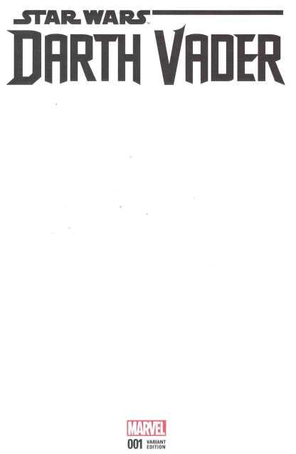 Darth Vader #1 Blank Variant Cover Marvel 2017 Star Wars