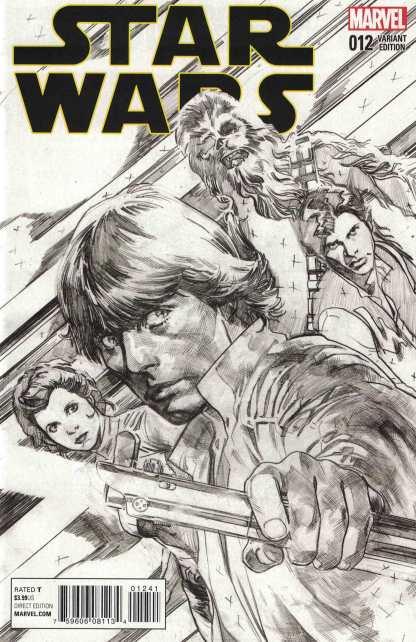 Star Wars #12 1:100 Immonen Sketch Variant Marvel 2015