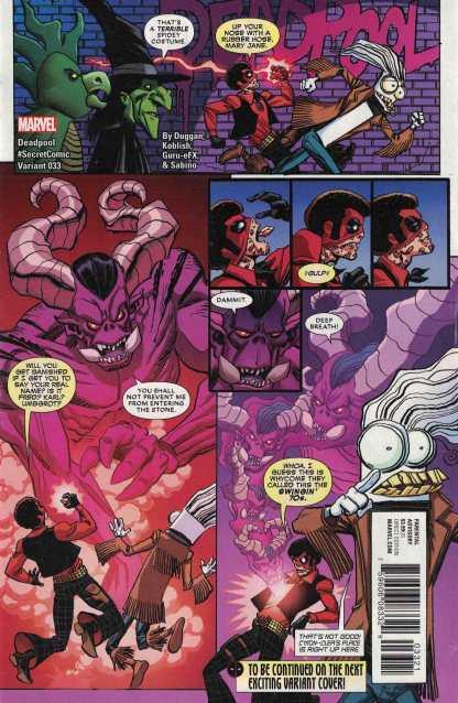 Deadpool #33 Scott Koblish Secret Comics Unlocked Variant Marvel 2015