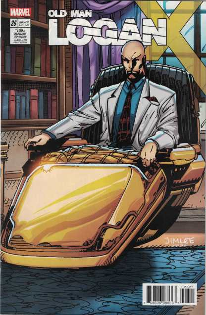 Old Man Logan #26 Jim Lee X-Men Trading Card Professor X Variant 2016