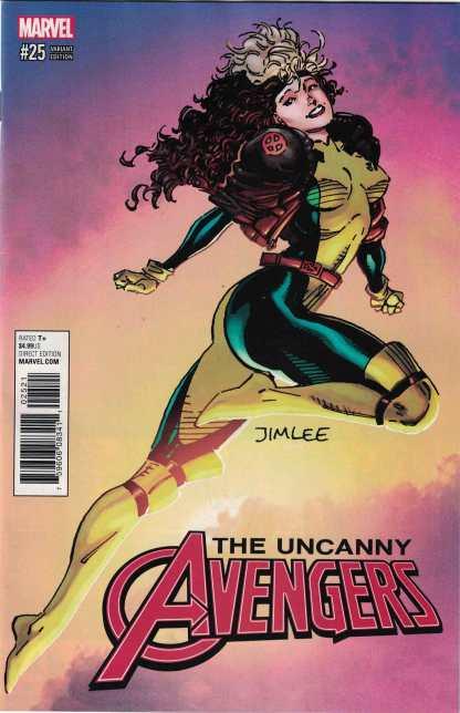 Uncanny Avengers #25 X-Men Jim Lee Trading Card Variant Rogue 2015