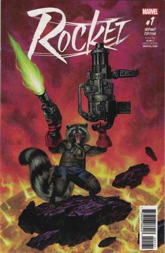 Rocket #1 1:15 Joe Jusko Variant Marvel 2017 Raccoon Guardians Galaxy