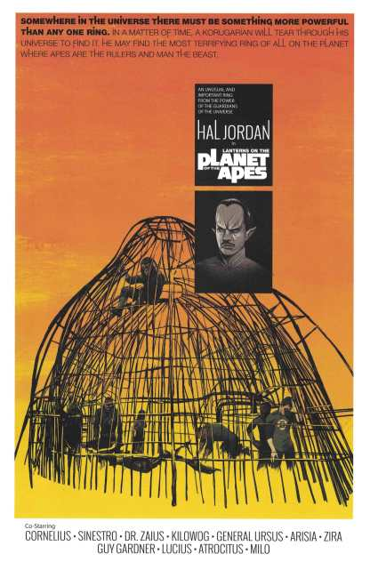 Planet of the Apes Green Lantern #6 1:10 Oliver Barrett Variant DC 2016