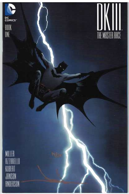 Dark Knight III Master Race #1 Dynamic Forces Variant Jae Lee Signed w/COA 14/50