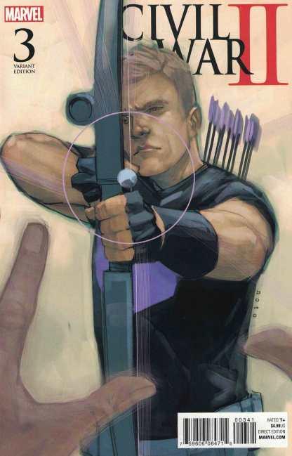 Civil War II #3 1:10 Phil Noto Variant Marvel 2016 Death of Hulk Hawkeye