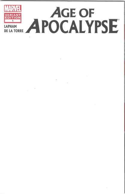 Age of Apocalypse #1 Blank Sketch Variant Marvel X-Men 2012