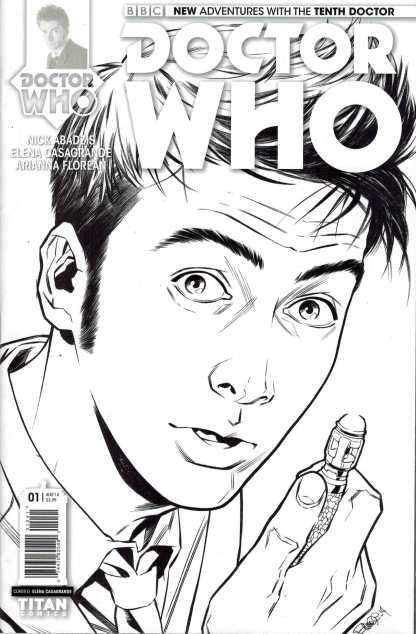 Doctor Who the Tenth Doctor #1 1:25 Elena Casagrande Sketch Variant