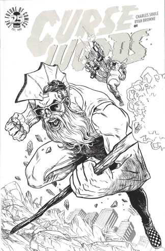 Curse Words #1 Image 25th Blind Box Black and White Variant 2017